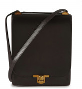 HERMÈS  Sac CHANTILLY Box marron Garniture métal plaqué or En l'état  CHANTILLY bag Brown box calfskin leather Gil...