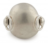 HERMÈS  Bague GALET Argent 925/1000 Poids : 24,8 g Taille : 51  GALET ring Silver 925/1000 Weight : 24,8 g Size...