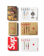 "Bicycle x Supreme  Ensemble de 3 jeux de cartes ""Street scene"", ""Gold"" & ""Red"" - 2010 , 2013 & 2009"