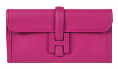 HERMÈS 2018  Pochette JIGE ÉLAN 29 Veau Swift rose Pourpre  JIGE ÉLAN 29 clutch Rose Pourpre Swift calfskin leather ...
