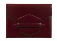HERMÈS 1962  Pochette FACO Box bordeaux  FACO clutch Burgundy box calfskin leather  *****