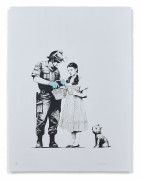 BANKSY (Anglais - Né en 1974) Stop and search - 2007 Sérigraphie sur papier