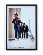 Ricky Powell (Américain - Né en 1961) Run DMC Paris 1987 Trocadero Together Forever Tour- 1987 Tirage photographique
