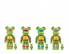 MEDICOM x NICKELODEON  Be@rbrick 400% et 100% / Teenage Mutant Ninja Turtles - 2001/2017 (Set de 4) Vinyle
