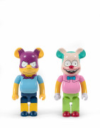 MEDICOM x THE SIMPSONS  Be@rbrick 1000% / Bartman et Krusty - 2017 (Set de 2) Vinyle