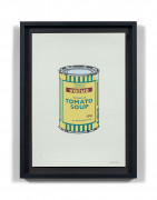 BANKSY (Anglais - Né en 1974) Soup can Yellow / Emerald / Brown - 2005 Sérigraphie sur papier