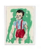 Jim DINE Né en 1935 Pinocchio coming from the green - 2011
