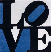 D'après Robert INDIANA 1928-2018 Chosen love (Estonian love) - 1995 Tapis en laine