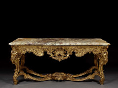 TABLE D'ÉPOQUE LOUIS XV, PARIS, VERS 1730 Attribuée à Sébastien-Antoine Slodtz (1695-1754) et Paul-Ambroise Slodtz (1702-1758) Proba..