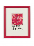 Keith HARING 1958 - 1990 New coke baby Dessin sur carte postale