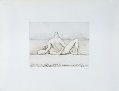 Henry MOORE (Castelford,1898 - 1986) Reclining figures man and woman I - 1975