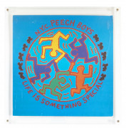 Keith HARING 1958 - 1990 NYC Peech Boys Life is something special - 1983 Impression offset sur disque 33T et pochette de disque