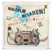 Keith HARING 1958 - 1990 Malcom Mc Laren and the worl famous supreme team rzdio show - 1983 Impression offset sur disque 33T et poch...