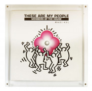 Keith HARING 1958 - 1990 These are my people Members of House - Impression offset sur disque 33T et pochette de disque