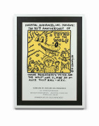 Keith HARING 1958 - 1990 Peter and the Wolf / 50th anniversary - 1985 Impression offset sur affiche