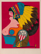Richard LINDNER (1901 - 1978) Miss American Indian - 1969
