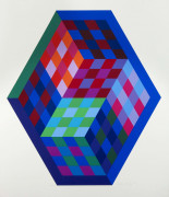 Victor VASARELY (1906 - 1997) Gordes - 1971