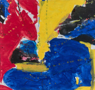 Sam FRANCIS (1923 - 1994) RED, BLUE, YELLOW (SF59-538) - 1959 Gouache sur papier