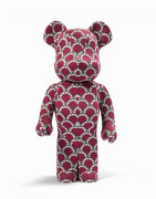 MEDICOM x KAWS  Be@rbrick 1000% / Wide World Tour 2 Red - 2012 ABS et tissuVinyle