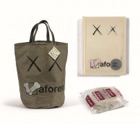KAWS x LAFORET  Shopping Tote Bag Nylon