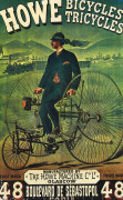 "Reproduction de l'affiche "" HOWE, Bicycles/Tricycles """