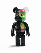 MEDICOM x KAWS  Be@rbrick 1000% / Dissected Companion (Black) - 2010 ABS