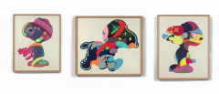 KAWS (Américain - Né en 1974) No One's Home, Stay Steady, The Things that Comfort - 2015 Suite complète de 3 sérigraphies en couleur..