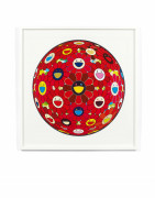 Takashi MURAKAMI ( Né en 1962) Flower Ball (3D) Red Ball - 2013