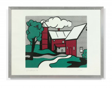 Roy LICHTENSTEIN (1923 - 1997) Red barn - 1969