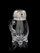 CARAFE EN CRISTAL ET ARGENT EN FORME DE HIBOU Orfèvre William Hutton & Sons Ltd Londres 1894