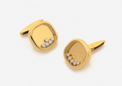 "CHOPARD  Paire de boutons de manchette ""Happy Diamonds"""