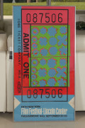 Andy WARHOL 1928 - 1987 Lincoln Center Ticket New-York -1967 Sérigraphie en couleur