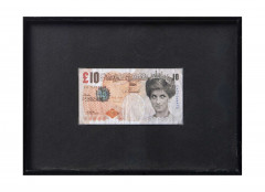 BANKSY (Anglais - Né en 1974) Di-faced tenner 10 pounds - 2004 Impression sur billet de banque