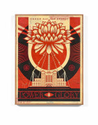 Shepard FAIREY (Alias OBEY GIANT) (Américain - Né en 1970) Power and Glory - 2014 HPM sur bois