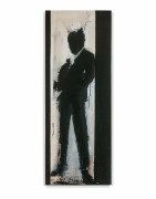 Richard HAMBLETON (Canadien - 1952 - 2017) Standing Shadowman - 2003 Acrylique sur toile
