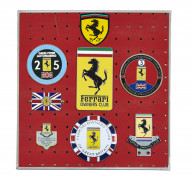 FERRARI  Ensemble de 7 badges et écussons - Grande-Bretagne-Owners Club