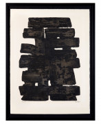 Pierre SOULAGES Né en 1919 Eau-Forte XIII - 1957 Eau-forte en noir  Etching; signed and numbered; 20.4 x 29.1 in.