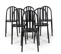 Robert MALLET-STEVENS - Edition ECART INTERNATIONAL (1886 - 1945) Suite de six chaises