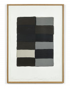 Sean SCULLY (Né en 1945) Grey Fold - 2007 Lithographie en couleurs sur Rives