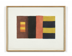Sean SCULLY (Né en 1945) Triptych - 1991 Aquatinte en couleurs
