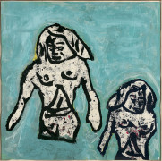 Donald BAECHLER (Né en 1956) BATHERS - 1983 Technique mixte sur papier