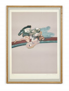 Francis BACON (1909 - 1992) Triptyque - 1975 (George Dyer) Lithographie offset en couleurs