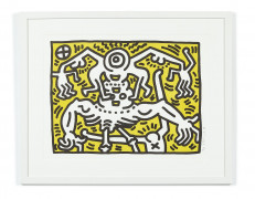 Keith HARING (1958 - 1990) Untitled - 1986 Lithographie en couleurs