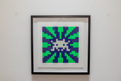 INVADER (Français - Né en 1969) Sunset (Blue and Green GID) - 2018 Sérigraphie en couleurs