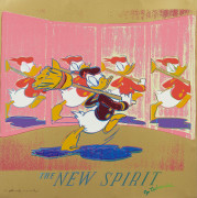 Andy WARHOL (1928 - 1987) The New Spirit (Donald Duck) - 1985 Une des 10 planches de la série « Ads »