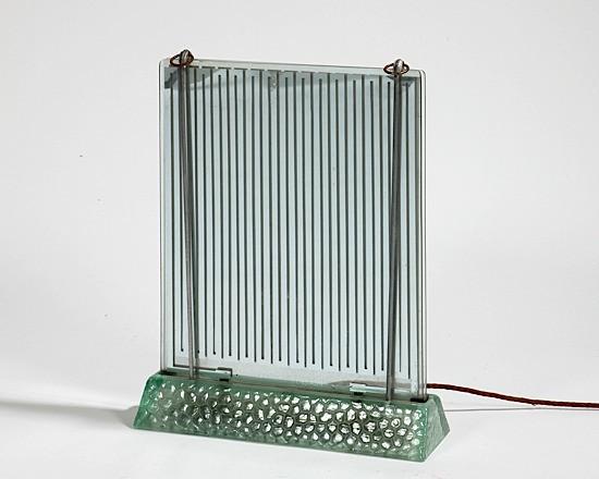 6ba8a79ad06 SAINT-GOBAIN   René COULON (dessinateur) Radiateur électrique à double  dalle de verre