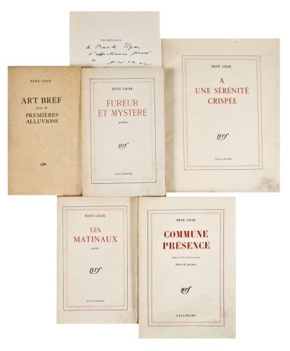Rene Char A Une Serenite Crispee Gallimard 1951 In 8 Br