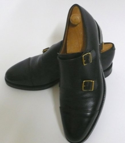 Cuir William Chaussures Moine-bracelet - Noir John Lobb Bb4zymlry