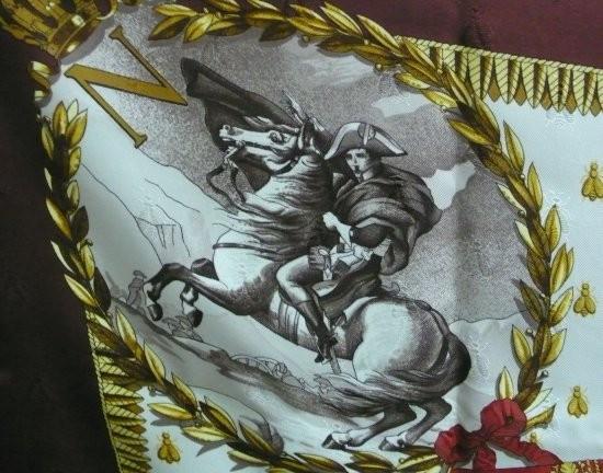 4e1a9f673f ... HERMES Paris made in france Carré en soie damassée imprimée, titré