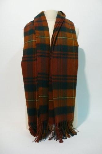 HERMES Paris made in gt Britain Plaid tartan écossais en cachemire et laine. 4cf6e797b0c